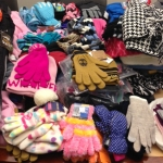 Hats and Gloves donated by Cleveland Clinic staff for CMSD students