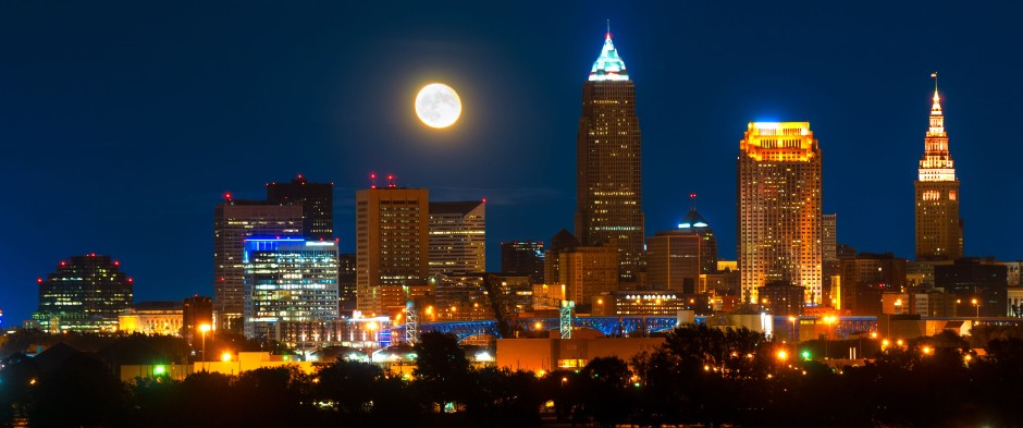 Downtown Cleveland at Night